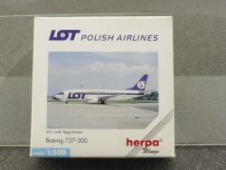 Herpa 511926 Boeing 737-300 LOT Polish Airlines SP-LMC OVP