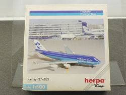 Herpa 511087 Boeing 747-400 Frankfurt Goethe 1999 1/500 OVP