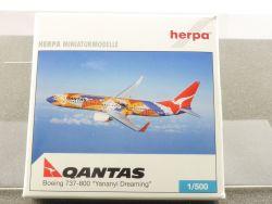 Herpa 501392 Boeing 737-800 Qantas Yananyi VH-VXB 1/500 OVP