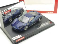 Carrera 27362 Evolution Ferrari 458 Italia blau Slotcar TOP! OVP