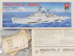 ZTS Plastyk Fregata Typu 15 Grenville 1/500 Kit Poland NEU! OVP