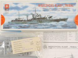 ZTS Plastyk Niszczyciel Klasy Tribal 1/500 Kit Poland NEU! OVP