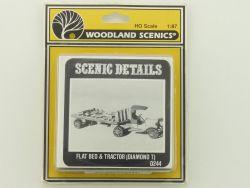 Woodland Scenics D244 Flat Bed Tractor Traktor Daimond T KIT OVP