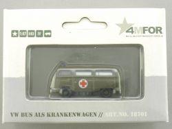 Märklin 18701 4MFOR VW Bus als Krankenwagen T2a Militär NEU! OVP