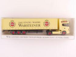 Wiking Werbemodell Scania Koffer-Sattelzug Merk Warsteiner OVP