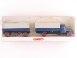 Wiking 8550332 Magirus S 7500 Pritschen-Lastzug LKW Hänger  OVP