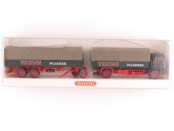 Wiking 8490340 Büssing BS 16 L Pritschen-Lastzug LKW Veltins OVP