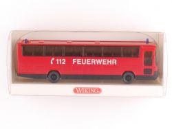 Wiking 60004 Feuerwehr Mannschaftsbus SoMo Interschutz 2000 OVP