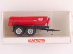 Wiking 3880527 Krampe Halfpipe-Muldenkipper Anhänger rot NEU OVP