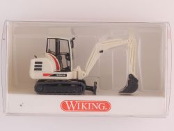 Wiking 6580231 Mini-Bagger Terex HR 18 weiß Baumaschine NEU! OVP