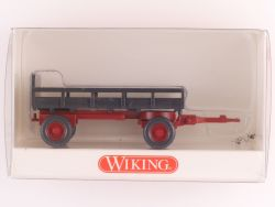 Wiking 8690218 Landwirtschaftlicher Anhänger grau rot NEU! OVP