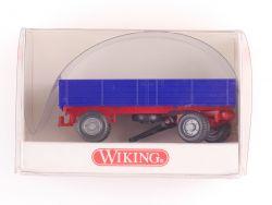Wiking 8790113 Landwirtschaftlicher Anhänger blau rot NEU! OVP