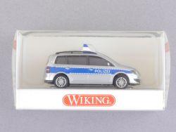 Wiking 1043333 Volkswagen VW Touran Polizei blau-silber NEU! OVP