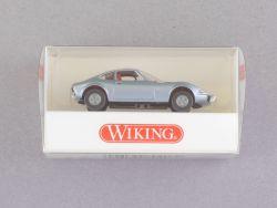 Wiking 8040825 Opel GT silberblaumetallic Modellauto 1:87 NEU! OVP