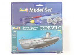 Revell 05093 U-Boot Typ VII C Set mit Farbe Kleber 1/350 NEU OVP
