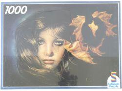 Schmidt 02600 Puzzle Mädchen Träne Blätter 1000 Teile NEU! OVP