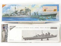 Nichimo Japan Navy Heavy Cruiser Ashigara mit Motor 1/500 NEU OVP