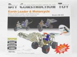 DIY Toy Metallbaukasten Radlader Motorcycle Solarmodell TOP OVP