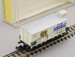 Minitrix 13658 Bierwagen Brauhaus Riegele Augsburg DRG  OVP