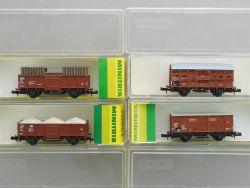 Minitrix Konvolut 4x Güterwagen Verschlagwagen Kohlewagen  OVP