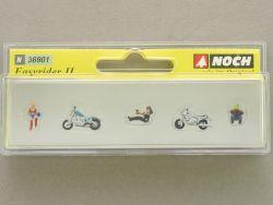Noch 36901 Easyrider II Motorrad Biker Modellbahn N Figuren OVP