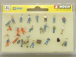 Noch 37107 XL Arbeiter großes Set Modellbahn N Figuren NEU! OVP
