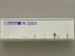Merten 2203 Eisverkäufer u. Passanten Figuren Modellbahn NEU OVP