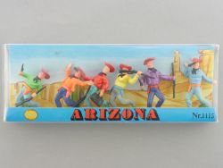 ALME 1115 Arizona Wild West Cowboys Figuren ca. 5,5 cm MIB OVP