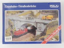 Pola N 370 Eisenbahn Straßenbrücke Steinbogen Bausatz NEU Folie OVP