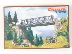 Vollmer 7800 Vorflutbrücke Eisenbahnbrücke Bausatz N NEU! OVP