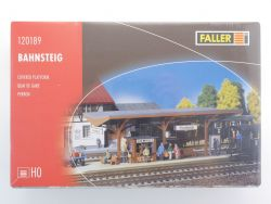 Faller 120189 Bahnsteig Gebäude Bausatz Modellbahn H0 NEU! OVP