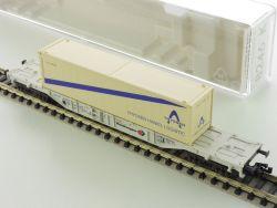 Fleischmann 8246 K Containerwagen Tragwagen Thyssen Haniel OVP ST