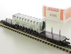 Arnold 4765 Rungenwagen Pellegrini Silberner Container selten OVP