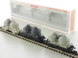 Arnold 0242 Set 3x Silowagen Deutsche Bahn Spur N Top Neu! OVP