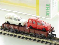 Minitrix 15212 Niederbordwagen VW Golf Caddy Rot Weiß NEU! OVP
