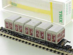 Minitrix 13975 Containertragwagen von Haus zu Haus DB Lgjs NEU! OVP