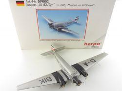 Herpa 019002 Junkers Ju-52/3m D-ABIK Lufthansa Tante 1:160 N OVP