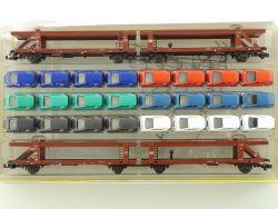 Minitrix 15207 Transportwagen-Set Busch MB W 168 A-Klasse NEU OVP