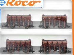 Roco 24008 Wagenset Muldenkippwagen Schotterwagen F-z 120 DB OVP