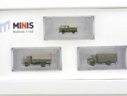 Lemke LC5011 MiNis Bundeswehr-Set MB L322 VW T2 1:160 Spur N OVP