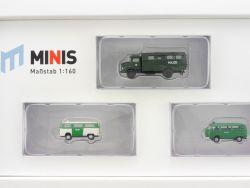 Lemke LC5012 MiNis Polizei-Set MB L322 VW T2 1:160 Spur N OVP