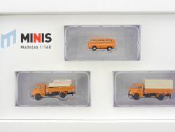 Lemke LC5008 MiNis Kommunalfahrzeuge-Set Stadtreinigung 1:160 OVP