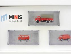 Lemke LC5013 MiNis Feuerwehr-Set Bus MB L 322 1:160 Spur N OVP