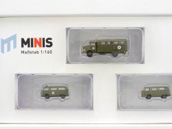 Lemke LC5009 MiNis Bundeswehr-Set Rotes Kreuz MB VW 1:160 OVP