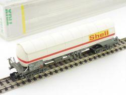 Minitrix 91026 Druckgaskesselwagen Shell SBB Spur N Lesen OVP