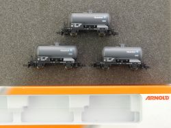 Arnold 0253 Set 3x Kesselwagen Höchst Frankfurt Spur N NEU! OVP