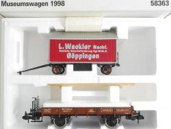 Märklin 58363 Museumswagen 1998 Wackler K.W.St.E Spur 1 NEU! OVP