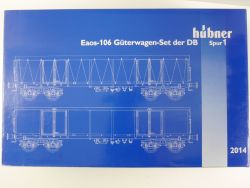 Hübner 2014 Güterwagen-Set 2x Eaos-106 DB Spur 1 NEU! OVP