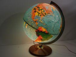 Scan Globe Globus mit Licht Beleuchtung 70er Jahre Denmark ZZ