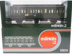 Märklin 5804 Abteilwagen Personenwagen DB 2. Kl SW 1 wie NEU OVP